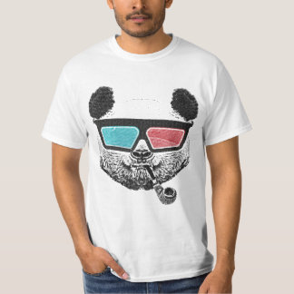 Vintage panda 3-D glasses T-Shirt
