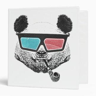 Vintage panda 3-D glasses Vinyl Binder
