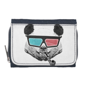 Vintage panda 3-D glasses Wallet