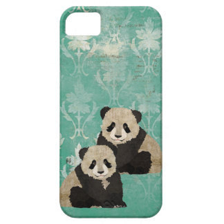 Vintage Panda Bears  iPhone Case