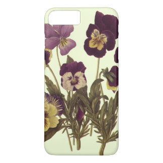 Vintage Pansies in Bloom, Floral Garden Flowers iPhone 7 Plus Case