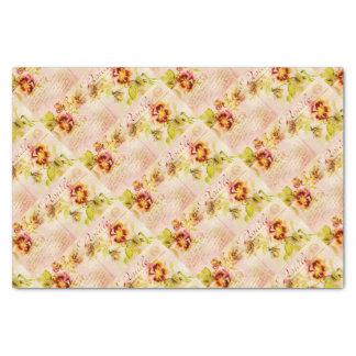 Vintage pansy flower for women tissue paper
