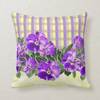 Vintage Pansy Square Pillow