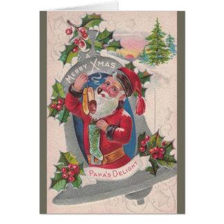 Vintage Papa's Delight Christmas Greeting Card