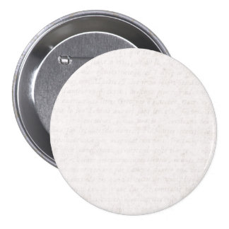Vintage Paper Antique French Script Writing Blank 3 Inch Round Button
