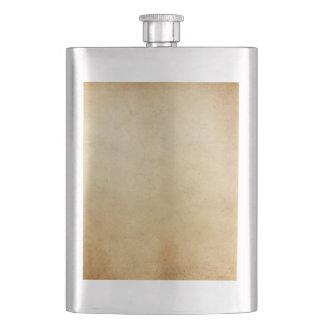 Vintage Paper Antique Gold Parchment Background Hip Flask