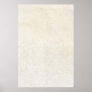 Vintage Paper Antique Ivory Parchment Background Poster