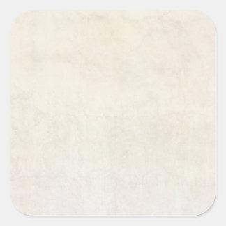 Vintage Paper Antique Ivory Parchment Background Square Sticker