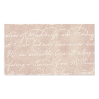 Vintage Paper Antique Script Writing Parchment Business Card Template
