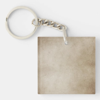 Vintage Paper Brown Antique Parchment Background Keychain