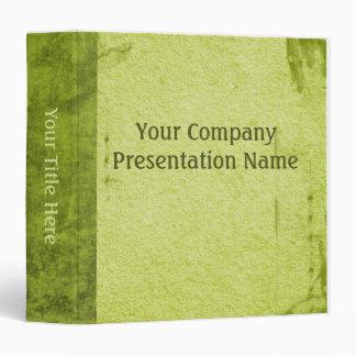 Vintage Paper Business Green Vinyl Binder