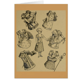 Vintage Paper Doll Illustration You're A Doll Card