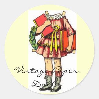 Vintage Paper Doll Sticker