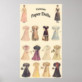 Vintage Paper Dolls 1 of 2 Cream Background Print