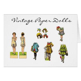 Vintage Paper Dolls Card