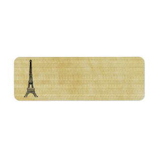 Vintage Paper French Chic Steampunk Eiffel Tower Return Address Label