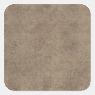 Vintage Paper Parchment Paper Template Blank Square Sticker