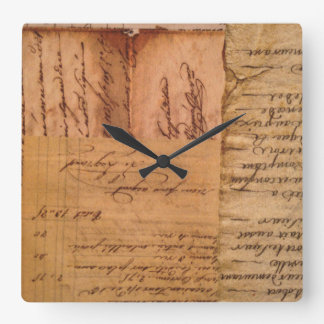 Vintage Paper Square Wall Clock
