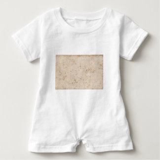 Vintage paper texture bugged baby romper