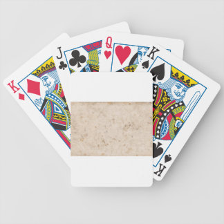 Vintage paper texture bugged bicycle playing cards