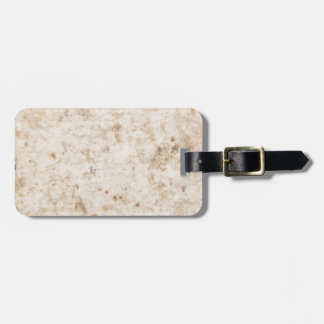 Vintage paper texture bugged luggage tag
