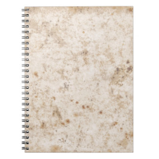 Vintage paper texture bugged notebook