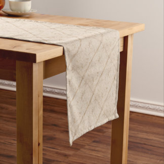 Vintage paper texture bugged short table runner