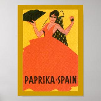 "Vintage ""Paprika Spain"" Label Print"