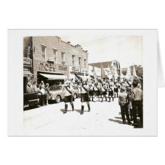 Vintage Parade on Main Street Card