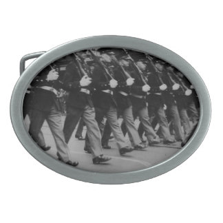 Vintage Parade Soldiers Oval Belt Buckle