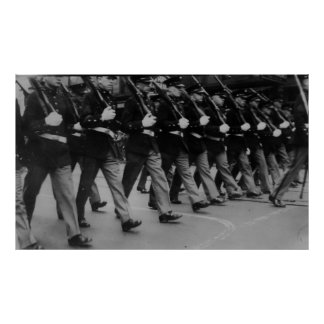 Vintage Parade Soldiers with Rifles Poster