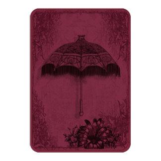 Vintage Parasol Burgundy Card