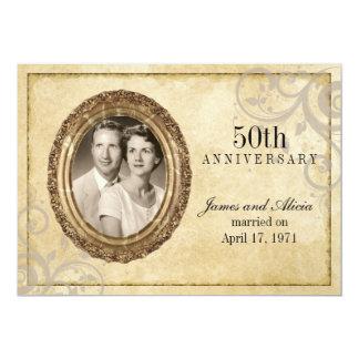 Vintage Parchment Anniversary Invitation