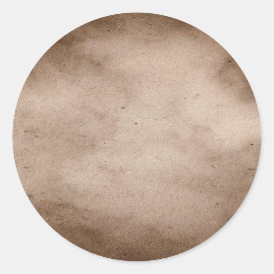 Vintage Parchment Antique Paper Background Blank Classic Round Sticker