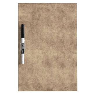 Vintage Parchment Antique Paper Background Custom Dry Erase Whiteboard