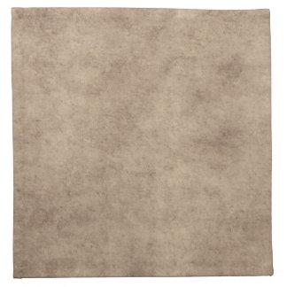 Vintage Parchment Antique Paper Background Custom Printed Napkin