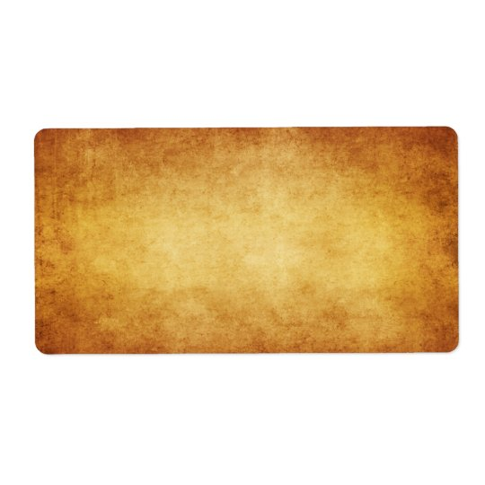 Vintage Parchment Antique Paper Background Custom Shipping Label