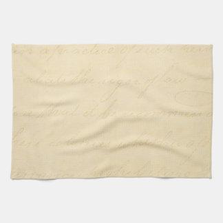 Vintage Parchment Antique Text Template Blank Kitchen Towel