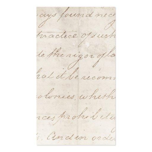 Vintage Parchment Antique TextTemplate Business Card