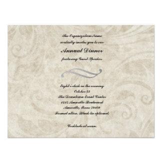 Vintage Parchment Design Dinner Invitation