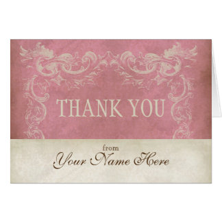 Vintage Parchment Look Business Thank You Notes Note Card