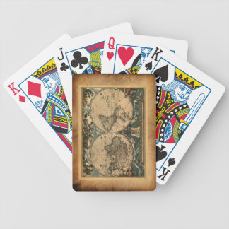 Vintage Parchment Old World Map Playing Cards