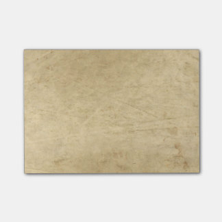 Vintage parchment paper post-it notes