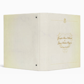 Vintage Parchment Paper Style Wedding Album 3 Ring Binders