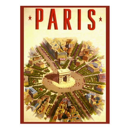 Vintage Paris, Arc de Triomphe, Change of Address Postcard
