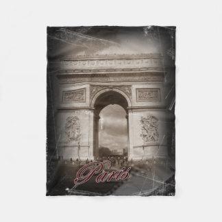 Vintage Paris: Arc de Triomphe Fleece Blanket