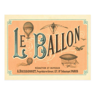Vintage Paris Ballon postcard