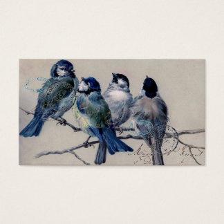 Vintage Paris Bluebirds Business Card