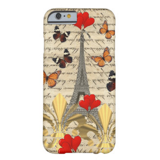 Vintage Paris & butterflies Barely There iPhone 6 Case