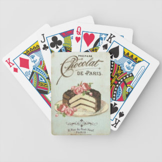 Vintage Paris Chocolate Cake Bicycle Playing Cards